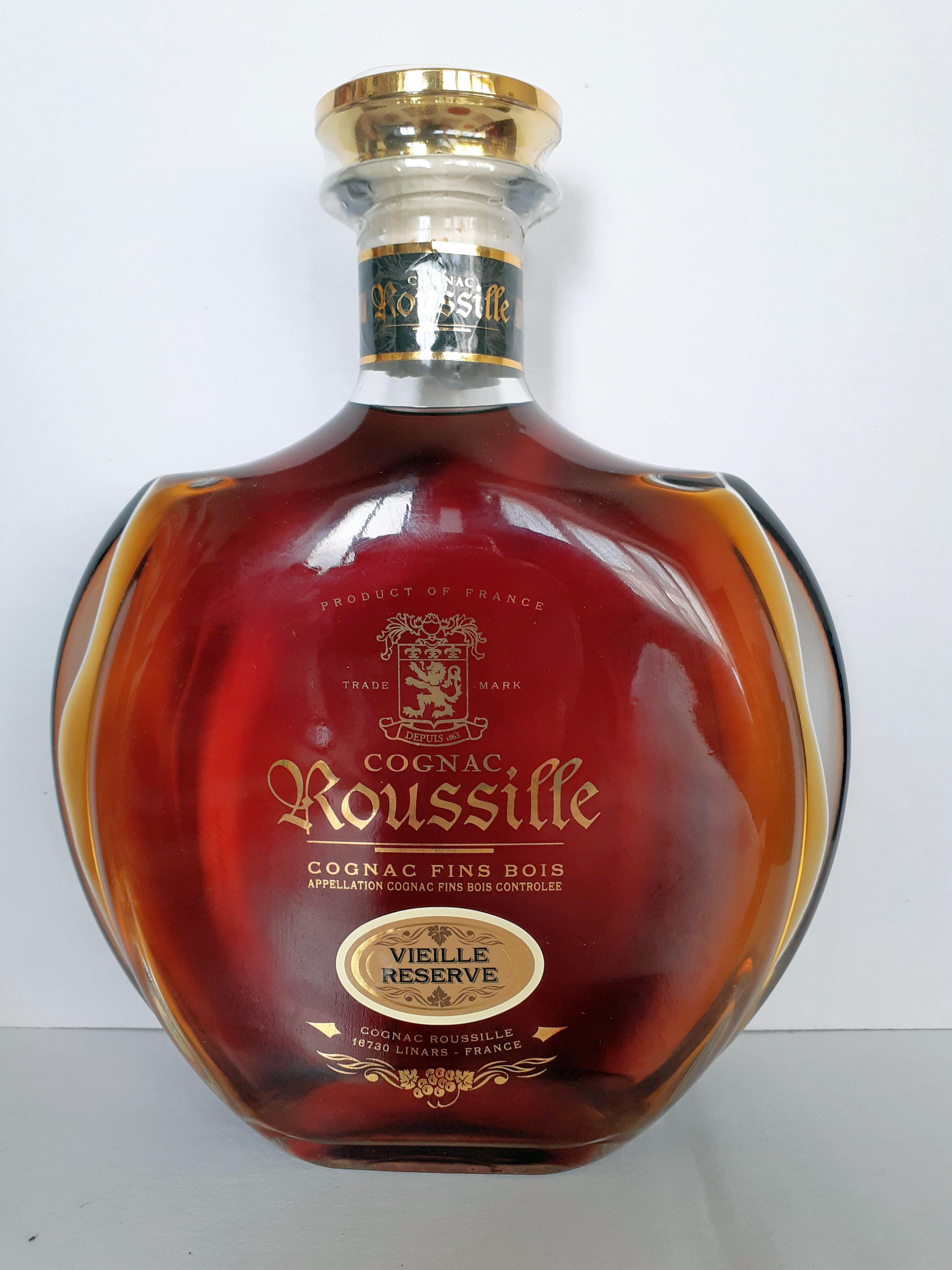 Cognac Vieille Réserve Carafe Sérigraphiée 70 cl